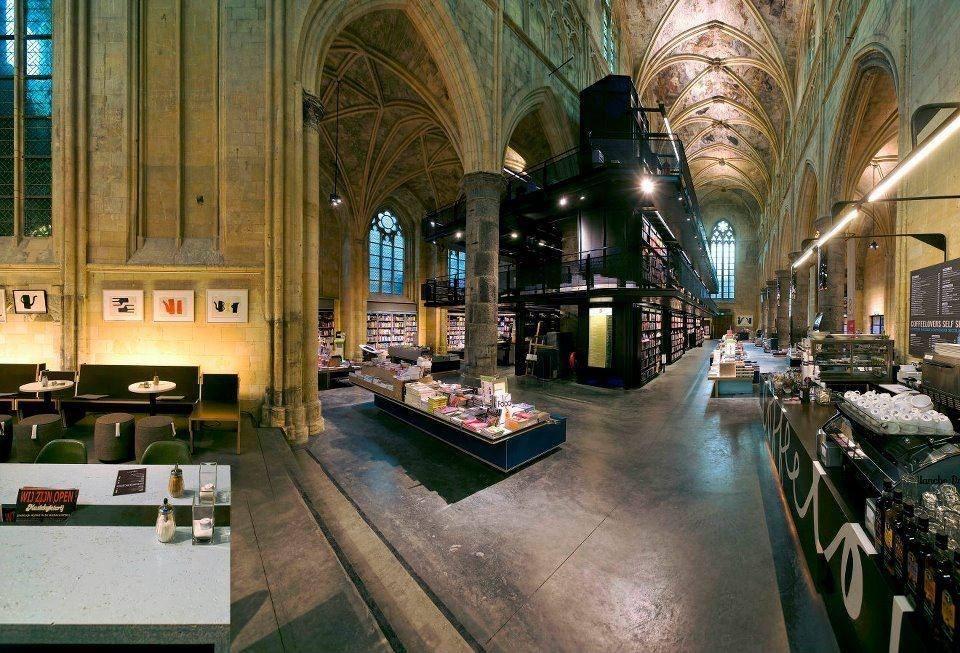 A church full of books